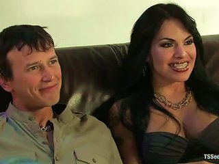 Derrick P. Gets His  Destroyed By Horny Shemale Ts Foxxy